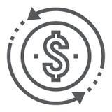Línea de rentabilidad de la inversión icono, desarrollo
