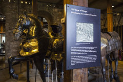 Línea de reyes en la torre de Londres Foto de archivo