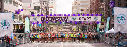 Línea 2014 de salida de Bloomsday Foto de archivo libre de regalías