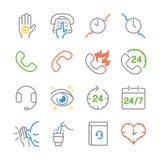 Línea de servicio de atención al cliente iconos libre illustration