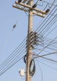 Línea de suministro del poder Foto de archivo