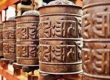 Línea de tambores de rogación del cobre Fotografía de archivo libre de regalías