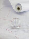 Línea de tendencia en el papel marcado Foto de archivo libre de regalías