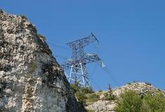 Línea de transmisión de potencia Fotos de archivo