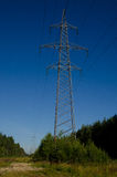Línea de transmisión de potencia Fotografía de archivo