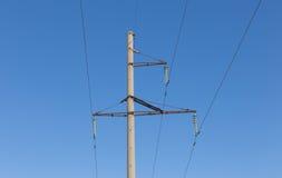 Línea de transmisión de potencia Imagen de archivo libre de regalías