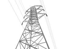 Línea de transmisión eléctrica Foto de archivo libre de regalías