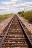 Línea de transporte locomotora de las pistas de ferrocarril Texas Transportation Fotos de archivo libres de regalías