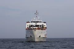 Línea de travesía de observación de la ballena imagen de archivo
