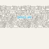 Línea de vida de la oficina de negocios Art Seamless Web Banner Fotografía de archivo