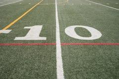 Línea de yardas 10 Imagen de archivo