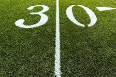 Línea de yardas del campo de fútbol 30 Imagen de archivo