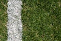 Línea de yardas del campo de fútbol Foto de archivo libre de regalías