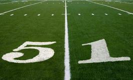 Línea de yardas del campo de fútbol 51 Imagenes de archivo