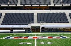 Línea de yardas del Super Bowl 50 del estadio de los vaqueros Imagen de archivo libre de regalías