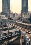 Línea de Yurikamome en Tokio foto de archivo