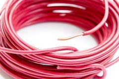 Línea del alambre de cobre Fotografía de archivo libre de regalías