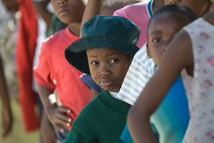 Línea del almuerzo en Zimbabwe Fotos de archivo libres de regalías