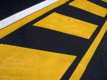 Línea del asfalto Foto de archivo libre de regalías