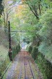 Línea del cable de Keifuku fotos de archivo libres de regalías