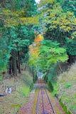 Línea del cable de Keifuku fotos de archivo