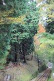 Línea del cable de Keifuku imagenes de archivo