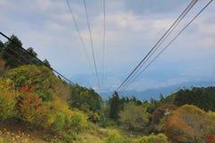 Línea del cable de Keifuku imagen de archivo libre de regalías