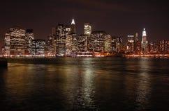 Línea del cielo de Manhattan Foto de archivo libre de regalías
