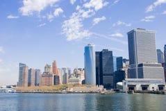 Línea del cielo de New York City Fotografía de archivo libre de regalías
