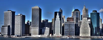 Línea del cielo de Nueva York Fotos de archivo libres de regalías