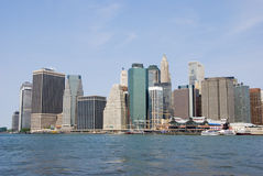 Línea del cielo de Nueva York Fotografía de archivo libre de regalías