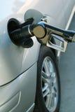 Línea del coche y de combustible Foto de archivo libre de regalías