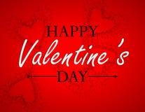 Línea del día de tarjetas del día de San Valentín Fotografía de archivo