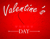 Línea del día de tarjetas del día de San Valentín Imágenes de archivo libres de regalías