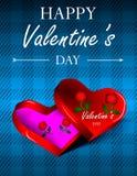 Línea del día de tarjetas del día de San Valentín Fotos de archivo