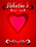Línea del día de tarjetas del día de San Valentín Foto de archivo