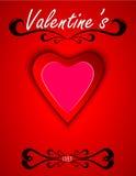 Línea del día de tarjetas del día de San Valentín Imagenes de archivo