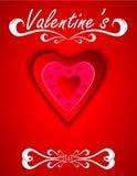 Línea del día de tarjetas del día de San Valentín Foto de archivo libre de regalías
