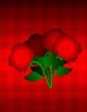 Línea del día de tarjetas del día de San Valentín Imagen de archivo libre de regalías