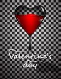 Línea del día de tarjetas del día de San Valentín Imagen de archivo