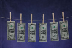 Línea del dinero fotos de archivo