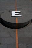 Línea del ecuador Imagen de archivo libre de regalías