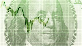 Línea del gráfico de negocio stock de ilustración
