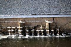 Línea del hielo de agua fotografía de archivo libre de regalías