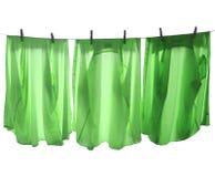 Línea del lavadero Fotografía de archivo libre de regalías