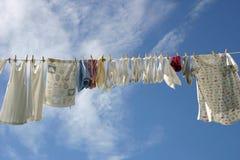 Línea del lavadero Fotografía de archivo