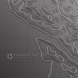 Línea del mapa de topografía Vector el concepto abstracto del mapa topográfico con el espacio para su copia Foto de archivo libre de regalías