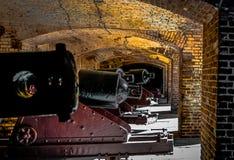 Línea del siglo XIX del cañón Foto de archivo libre de regalías