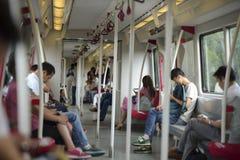 Línea del subterráneo APM en guangzhou imagenes de archivo