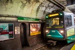 Línea del subterráneo en Boston foto de archivo libre de regalías